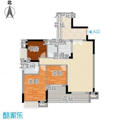 环湖花园120.00㎡环湖花园3室户型3室