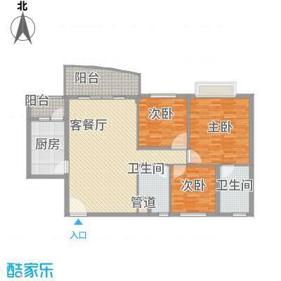 东城中心六期155.00㎡东城中心六期(御景台)3室户型3室