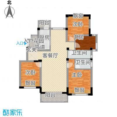 奥克伍德玫瑰园137.00㎡奥克伍德玫瑰园户型图户型4室2厅2卫1厨户型4室2厅2卫1厨