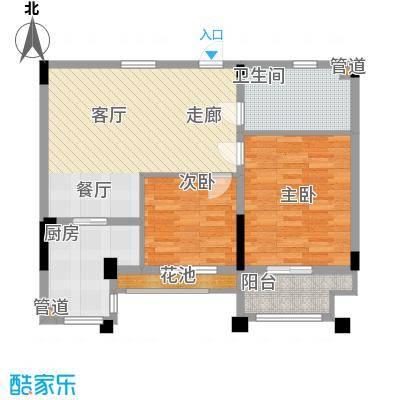 莱茵苑78.08㎡莱茵苑户型图小高层B2室2厅1卫1厨户型2室2厅1卫1厨