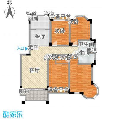 莱茵苑143.79㎡莱茵苑户型图G4室2厅2卫1厨户型4室2厅2卫1厨