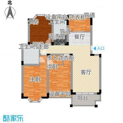 莱茵苑126.99㎡莱茵苑户型图H3室2厅2卫1厨户型3室2厅2卫1厨