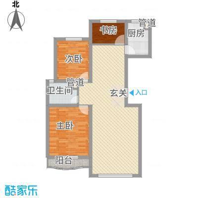 大院三期宽庭110.00㎡大院三期宽庭户型图B户型3室2厅1卫户型3室2厅1卫