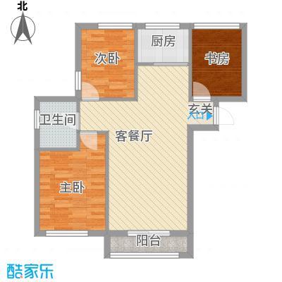 亿锋广场86.00㎡亿锋广场户型图1#楼F户型3室2厅1卫1厨户型3室2厅1卫1厨