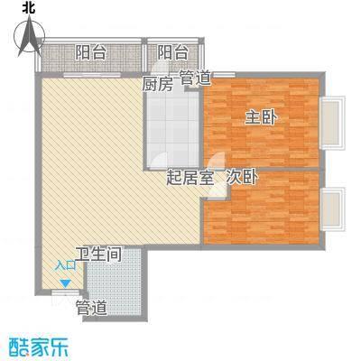 都市胜景户型2室1厅1卫1厨