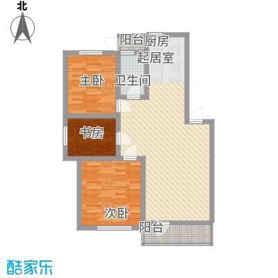 怡海花园104.00㎡户型3室2厅1卫1厨