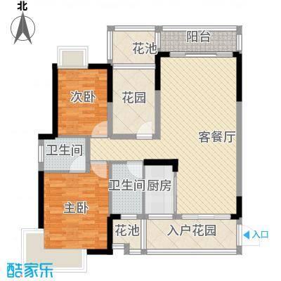 龙湾新城101.13㎡龙湾新城户型图E1/E2栋3-23层01单位2室2厅2卫1厨户型2室2厅2卫1厨