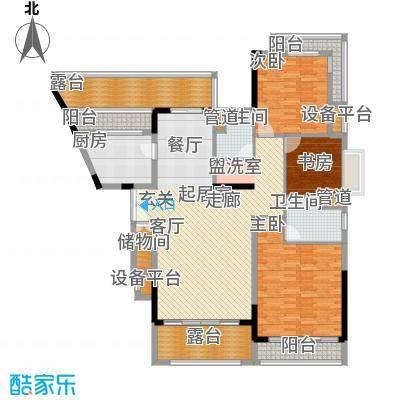 新世界花园帝景台155.00㎡新世界花园帝景台3室户型3室