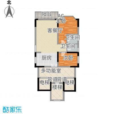 世纪绿洲71.00㎡世纪绿洲2室户型2室