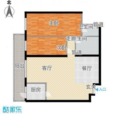 龙福家园116.50㎡龙福家园户型图2室2厅2卫1厨户型10室