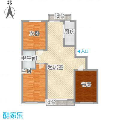 怡海花园112.00㎡户型3室2厅1卫1厨