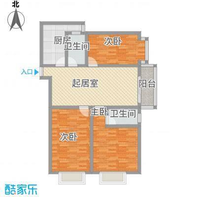 迎西城・龙湾佳园122.50㎡迎西城・龙湾佳园户型图E户型3室2厅2卫1厨户型3室2厅2卫1厨