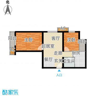 长青城80.00㎡长青城2室户型2室