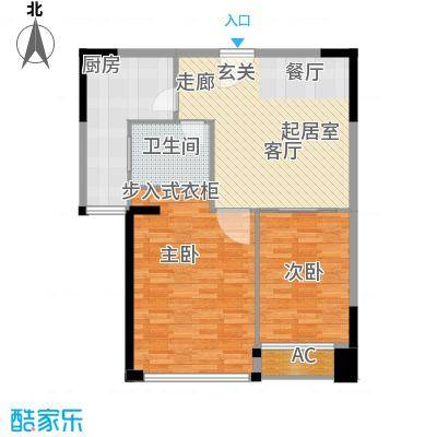 长青城89.00㎡长青城2室户型2室