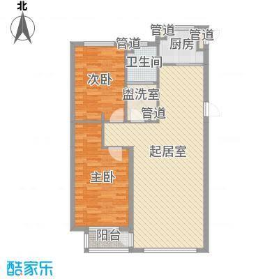 水御兰庭102.61㎡水御兰庭户型图2室2厅1卫1厨户型10室