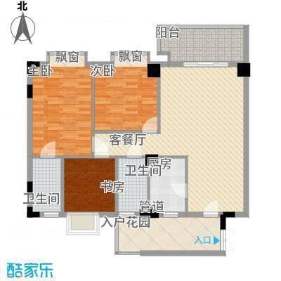 东方水岸110.00㎡东方水岸户型图七座(04单位)3室2厅2卫1厨户型3室2厅2卫1厨
