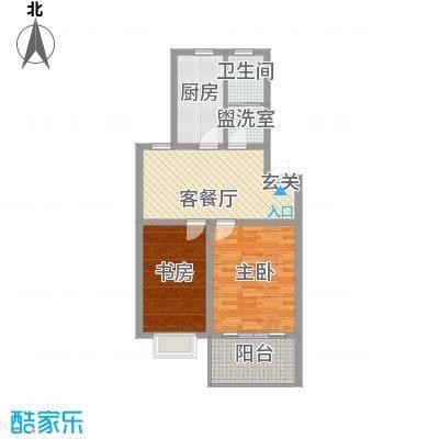嘉和苑78.69㎡嘉和苑户型图D2室1厅1卫1厨户型2室1厅1卫1厨