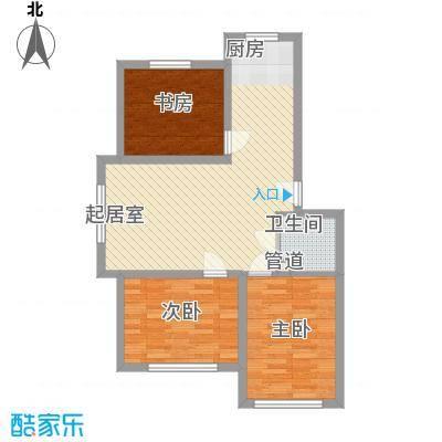 金石小区84.87㎡金石小区3室户型3室