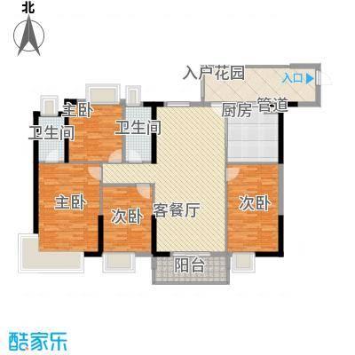 金海怡景花园户型图6-7栋03、06房 4室2厅2卫