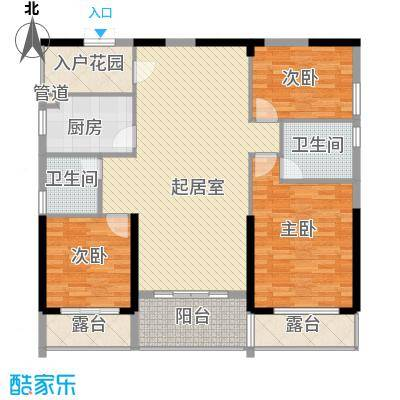 滨海御庭户型图103㎡ 3室2厅