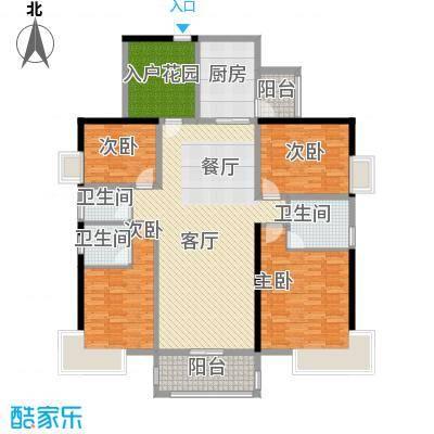 盈拓御江166.57㎡2、4号楼3号单位标准层户型4室1厅3卫1厨