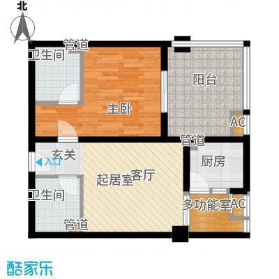 双子星国际广场80.00㎡双子星国际广场2室户型2室