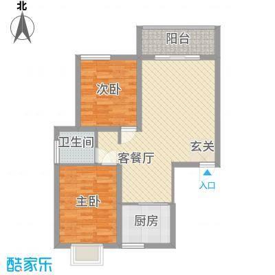九院新区项目85.00㎡九院新区项目户型图B户型2室2厅1卫户型2室2厅1卫