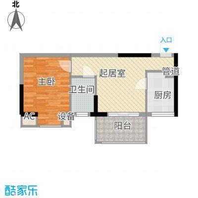 丽骏豪庭52.00㎡丽骏豪庭1室户型1室