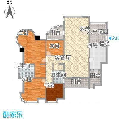 颐景园210.00㎡颐景园户型图悦湖03单元4室2厅2卫户型4室2厅2卫