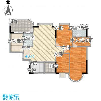 颐景园192.00㎡颐景园户型图兰亭、兰沁1座01单元4室2厅2卫户型4室2厅2卫