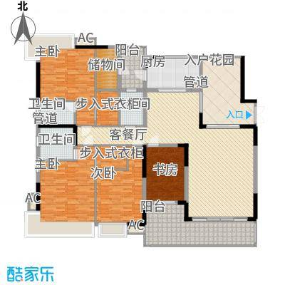 中海万锦豪园216.00㎡中海万锦豪园户型图D1型02.187m24室2厅3卫1厨户型4室2厅3卫1厨