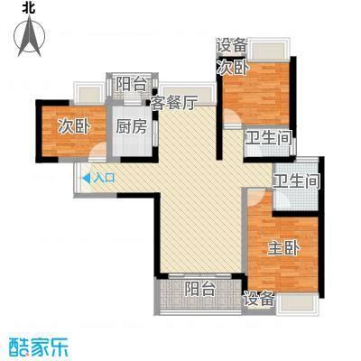 东莞长安万达广场111.00㎡东莞长安万达广场户型图2、4-8栋标准层C1户型3室2厅2卫1厨户型3室2厅2卫1厨