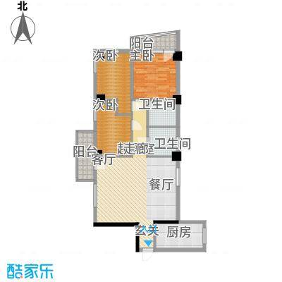 南峰玫瑰园95.00㎡南峰玫瑰园3室户型3室