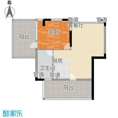 棕榈泉五期79.59㎡棕榈泉五期户型图26栋标准层R5户型2室2厅1卫1厨户型2室2厅1卫1厨