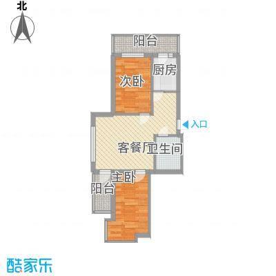 风车小镇61.46㎡风车小镇户型图2室2厅1卫1厨户型10室