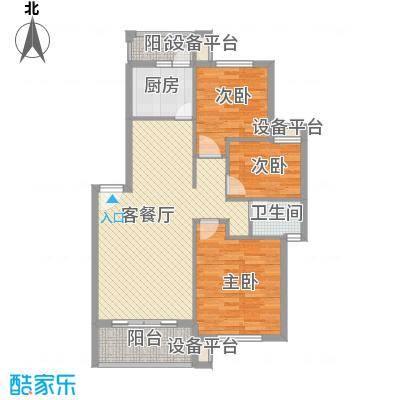 桃李花园86.00㎡桃李花园2室户型2室