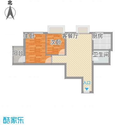 金东中环城户型图5#楼A户型 2室2厅1卫1厨