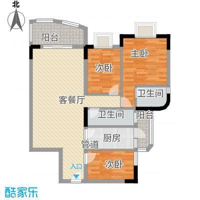 聚豪名轩 3室 户型图