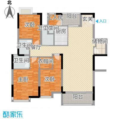 湖景壹号庄园别墅户型图d户型 3室2厅2卫