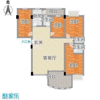 恒晖苑户型图108平方米 3室2厅