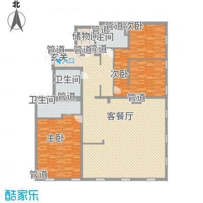 万国城moma户型图8#楼D户型(售完) 3室2厅3卫1厨
