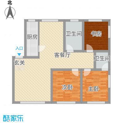 弘基书香园 3室 户型图