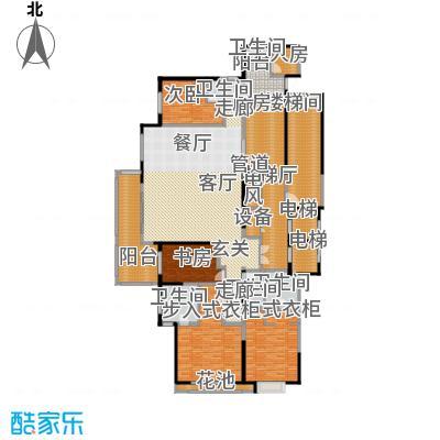 富力城・龙栖谷户型图B9楼二单元02户型 4室2厅4卫