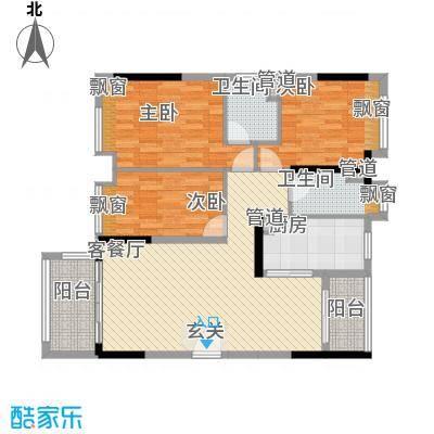 怡翠馨园户型图嘉文苑3座01单元 3室2厅2卫