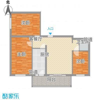 祥和家园67.28㎡户型3室1厅1卫1厨