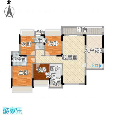 金地格林上院三期143.00㎡金地格林上院三期户型图LA-14室2厅2卫户型4室2厅2卫