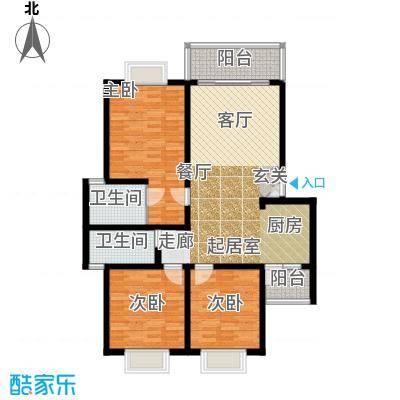 兴隆城市花园120.00㎡兴隆城市花园户型图3室2厅2卫1厨户型10室