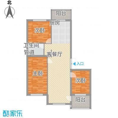 祥和家园75.23㎡户型3室1厅1卫1厨