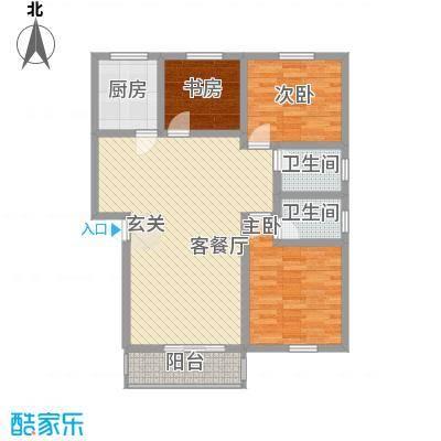 江湾国际94.00㎡江湾国际3室户型3室