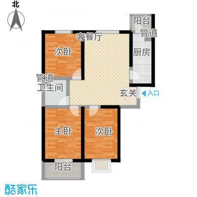 莱茵香榭107.60㎡莱茵香榭户型图4#楼D户型3室2厅1卫户型3室2厅1卫